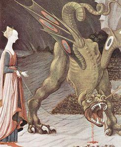 Georg im Kampf mit dem Drachen, Detail- Public Domain