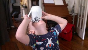 My son takes after my caffeine habits